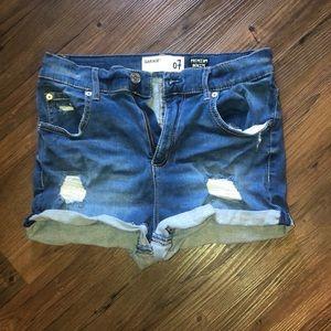 Women's garage jean shorts